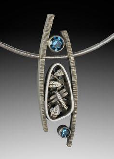Suzanne Williams sterling silver blue topaz pendant
