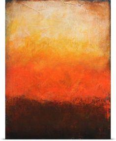 Vertical, abstract artwork created with different shades of color and textures suggesting a brilliant beach sunset. Maui Wall Art By: Erin Ashley from Great Big Canvas Big Canvas Art, Abstract Canvas, Canvas Art Prints, Canvas Wall Art, Framed Canvas, Framed Wall Art, Framed Prints, Orange Wall Art, Diy