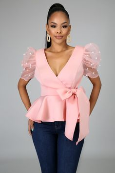 Classy Outfits, Chic Outfits, Fashion Outfits, Latest African Fashion Dresses, African Print Fashion, Peplum Top Outfits, Sleeves Designs For Dresses, Fashion Sewing, Look Fashion