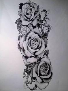 Image result for rose half sleeve tattoos tumblr