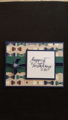 Birthday Card using Stampin Up Picture Perfect Birthday and Truly Tailored DSP Birthday Tags, Handmade Birthday Cards, Man Birthday, Men's Cards, Stampin Up Cards, Greeting Cards, Masculine Birthday Cards, Masculine Cards, Handmade Card Making