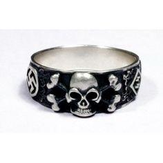 WWII German Skull Silver Ring