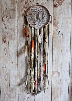 Large Dreamcatcher  Boho Dream Catcher  by VagaBoundPeople on Etsy