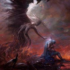 Fantasy Art And Other Stuff: quarkmaster: L'Aube Artem Demura Dark Fantasy Art, Fantasy Artwork, Daily Fantasy, Fantasy Concept Art, Dark Souls, Art Macabre, Tumblr, Art Station, Angels And Demons