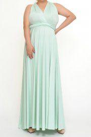 Sage Plus size Convertible Infinity Dresses XXL to 5XL