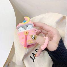 Husa protectie silicon Apple Airpods 1 2 carcasa | Gratuitescu.ro Sailor Moon Wands, Sailor Moon Luna, Japanese Cartoon, Cute Japanese, Earphone Case, Airpod Case, Magical Girl, Colorful Decor, Cute Cartoon