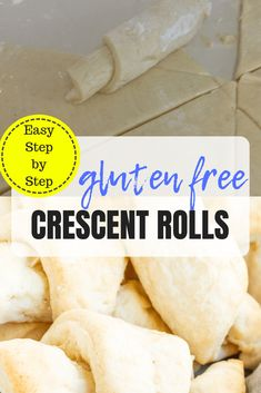 The BEST No-Fail Gluten Free Crescent Rolls - easy to make and ready in 1 hour! Easy step-by-step instructions and dairy free option. Gluten Free Crescent Rolls, Gluten Free Rolls, Gluten Free Diet, Foods With Gluten, Gluten Free Cooking, Gluten Free Desserts, Paleo Diet, 7 Keto, Paleo Sweets