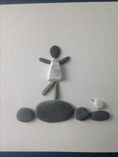 Sea Glass Crafts, Sea Crafts, Sea Glass Art, Pebble Pictures, Stone Pictures, Pebble Painting, Pebble Art, Stone Painting, Stone Crafts