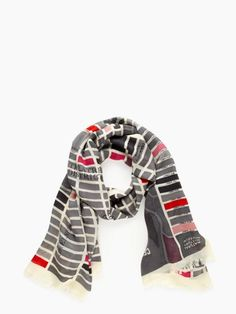 GIRL ABOUT TOWN SCARF  http://www.katespade.com/girl-about-town-scarf/PSRU0535,en_US,pd.html