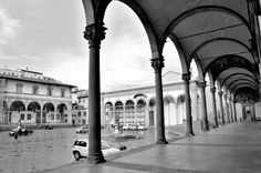 Loggia at Ospedale Degli Innocenti, and Piazza SS. Annunziata,  Florence…