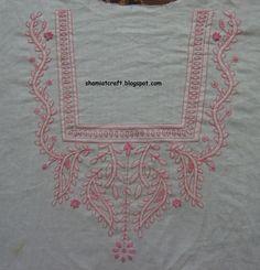 My craft works: Chickankari Embroidery