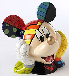 Mickey Mouse - Mickey Color Cookie Jar - Deluxe Gold Nose Edition - Romero Britto - World-Wide-Art.com - $150.00 #Disney #Britto #Mickey