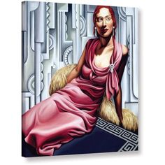 ArtWall Catherine Abel La Vie en Rose Gallery-wrapped Canvas, Size: 14 x 18, White