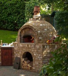 New garden kitchen ideas outdoor oven jamie oliver 32 ideas – Pizza Brick Oven Outdoor, Brick Bbq, Pizza Oven Outdoor, Stone Pizza Oven, Build A Pizza Oven, Oven Diy, Bread Oven, Four A Pizza, Wood Fired Pizza