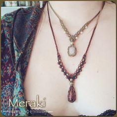 Jasper Stone Macrame Necklace Gem Stone Necklace by MerakiEtsy
