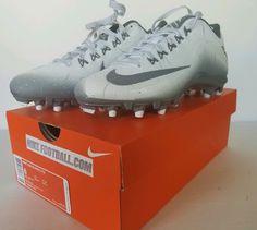 buy popular 0518b e86aa Nike Alpha Pro 2 TD Football Cleats Mens Size 8 White Skin 719925-101