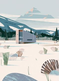 (10) Methow cabin by Cruschiform | Illustration | Pinterest