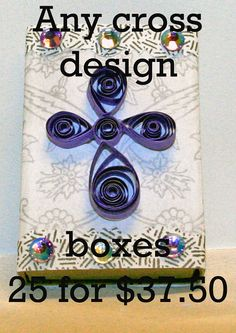 MADE TO ORDER Any cross design box 25 on Etsy, $37.50