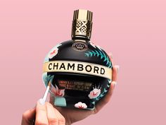 Chambord Bottle Chambord, Freelance Illustrator, Raspberry, Christmas Ornaments, Bottle, Holiday Decor, Creative, Illustration, Design