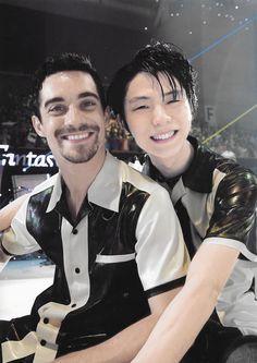 Ice Skating, Figure Skating, Male Figure Skaters, Yuzuru Hanyu, Javier Fernandez, Olympic Champion, Gif Pictures, Japanese Men, My Sunshine
