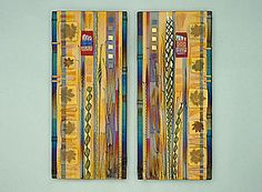 """Amber Leaf Panels""  Art Glass Wall Art  Created by Mark Ditzler"