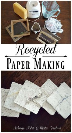 Recycled paper making. Taking shredded paper and turning it into new paper to use. This tutorial will show you how to do this craft project but also the story of one persons creative process through grief. Handling the loss of a daughter through cancer Fun Crafts, Diy And Crafts, Crafts For Kids, Papier Diy, Shredded Paper, Torn Paper, Paper Paper, Fabric Paper, Diy Recycle