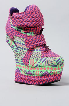 The Harkins Shoe in Multi by *Sole Boutique. I've never seen anything like these!