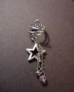 Ear cuff with charms