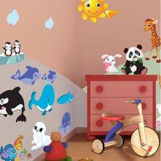 Ζώα της γης, αυτοκόλλητα τοίχου Μεταμόρφωση δωματίου Baby, Baby Humor, Infant, Babies, Babys