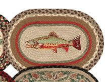 Rainbow Trout Braided Jute Placemat