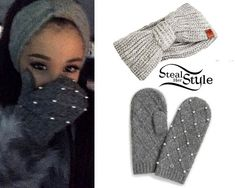 photo posted by Ariana Grande on instagram • I want both badly, does anyone know where to get the mittens and the headpiece?