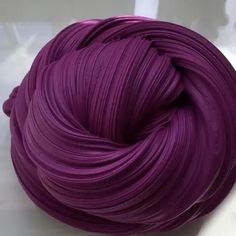 Beautiful dark purple fluffy matte slime ❤️