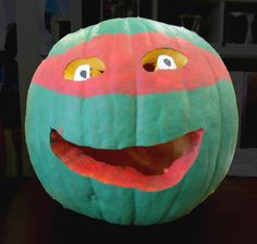 Ninja Turtle Pumpkin Carving
