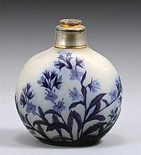 *GALLE CAMEO GLASS PERFUME BOTTLE