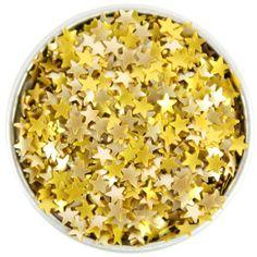 Gold Star Edible Glitter