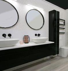 Shower Systems, Basin, Matte Black, Chrome, Contemporary, Mirror, Bathroom, Furniture, Home Decor