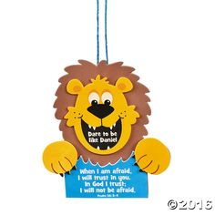Dare to be like daniel sign craft kit a roaring fun activity to