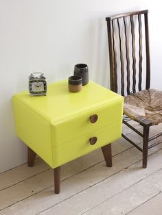 Softmod side table By John Weaver. A real looker we think. John will have it painted in pretty much any colour you fancy! http://www.futoncompany.co.uk/design-masters/softmod-bedside-table.html