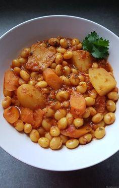 Loubia, haricots blancs en sauce