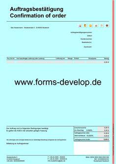 Rechnungsformular PDF für Kleinunternehmer mit statischen RE ...