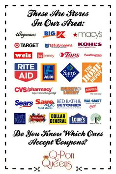 Do you know what stores accept coupons?
