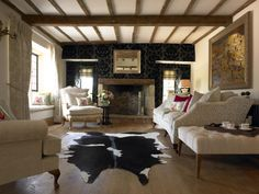 Ayi Faux Cowhide Rug Charcoal from Z Gallerie Have always wanted