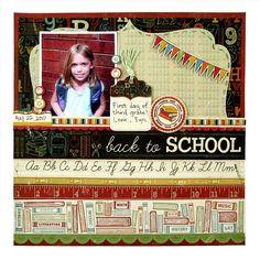 Back to school layout #wermemorykeepers #scrapbooking