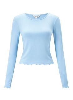 Blue Long Sleeve Funnel Top