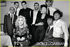 Madonna in Dolce and Gabbana ad 2010