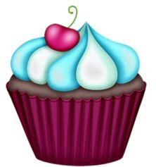 purple cupcake clip art clip art cupcakes clipart pinterest rh pinterest com clip art cupcakes pictures clip art cupcake borders
