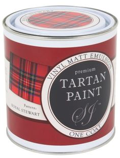 One coat Tartan Paint, matt emulsion Royal Stewart Scottish Plaid, Scottish Tartans, Scottish Decor, Tweed, Royal Pattern, Royal Stewart Tartan, Prank Gifts, Tartan Fashion, Decoration Home