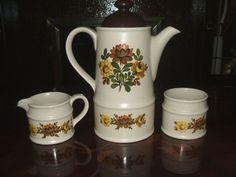 Coffee Pot Set Farmhouse Cottage Style Floral Design Retro #ebaysales #vintage #coffee Ebay Sale, Pot Sets, Vintage Coffee, Cottage Style, Vintage Items, Floral Design, Farmhouse, Retro, Tableware