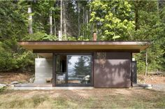 Tiny Cabin in the Pacific Northwest; see link for more views of this efficient one-room design.