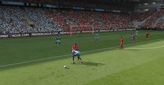 FIFA 15 Screenshot   In the area of ​​Manchester City, The picture shows that the player Yaya Touré plays as if he can cut the ball in rugby. by: Moh Usma  #fifa15 #footballsimulation #screenshot #sports